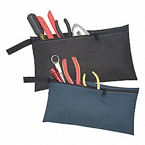 2 MULTIPURPOSE ZIPPERED BAGS
