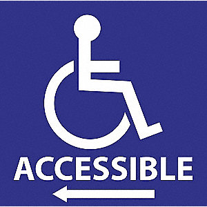 Handicap Labels,6 In H x 6 In W,PK2