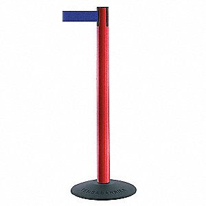 ECONOMY POST,PVC,POST FINISH RED