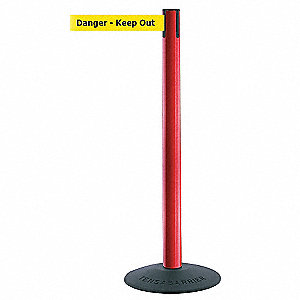 ECONOMY POST,RED,DANGER KEEP OUT