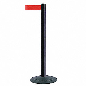ECONOMY POST,PVC,POST FINISH BLACK