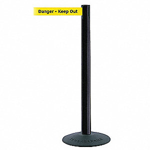 ECONOMY POST,BLACK,DANGER KEEP OUT