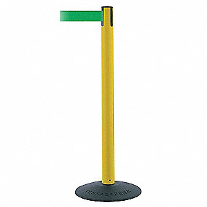 ECONOMY POST,PVC,POST FINISH YELLOW