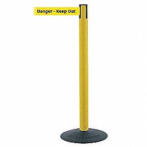 ECONOMY POST,YELLOW,DANGER KEEP OUT