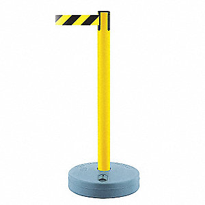 OUTDOOR SAFETY POST,BELT BLK/YLW