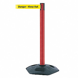 INDOOR/OUTDOOR POST,DANGER KEEP OUT