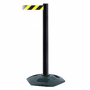 IND/OUT PORTABLE POST PVC BLK