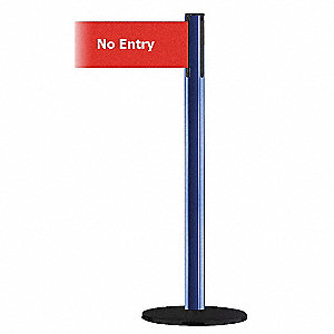 IND POST WIDE WEB BLU NO ENTRY