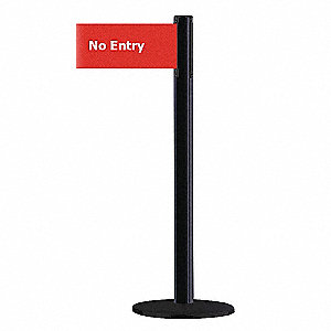 IND POST WIDE WEB BLK NO ENTRY