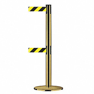 DUALLINE POST,BLACK/YELLOW DIAGONAL