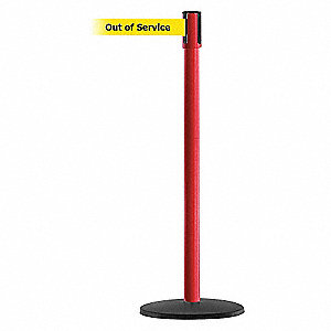 PORTABLE POST,RED,OUT OF SERVICE