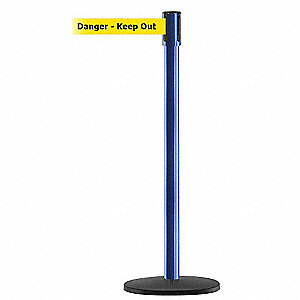 PORTABLE POST,BLUE,DANGER KEEP OUT