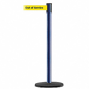 PORTABLE POST,BLUE,OUT OF SERVICE