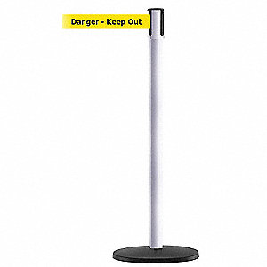 PORTABLE POST,WHITE,DANGER KEEP OUT