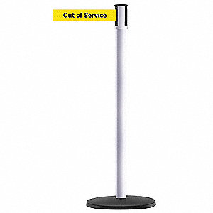 PORTABLE POST,WHITE,OUT OF SERVICE