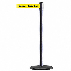PORTABLE POST,GRAY,DANGER KEEP OUT