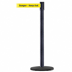 PORTABLE POST,BLACK,DANGER KEEP OUT