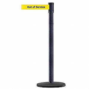 PORTABLE POST,BLACK,OUT OF SERVICE