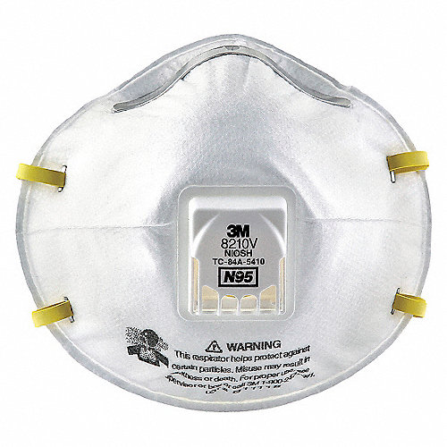 10pk N95 Desechable Universal Respirador Blanco Filtro