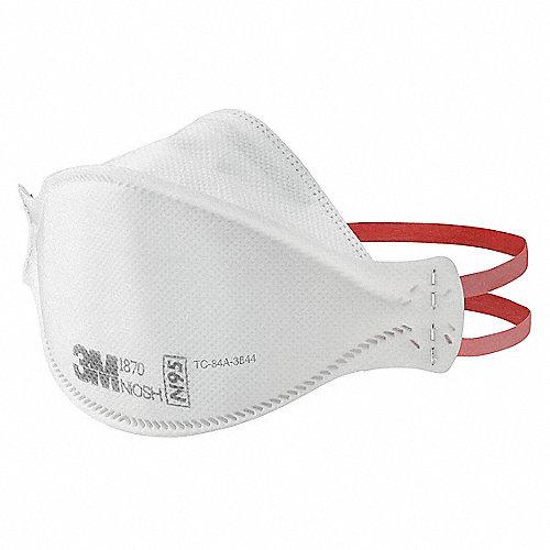 Blanco Universal Respirador Filtro 20pk Desechable N95