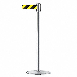 INDOOR PORTABLE POST,SATIN CHROME