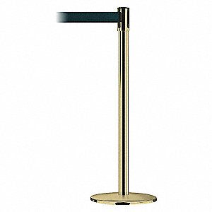 POLISHED BRASS POST W/BEL DARK G