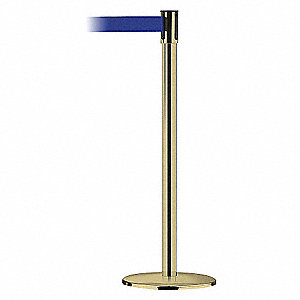 POLISHED BRASS POST W/BEL BLUE