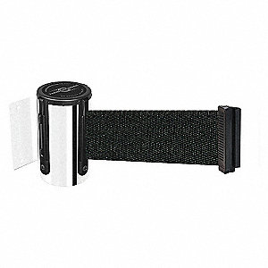 BELT BARRIER, CHROME,BELT BLACK