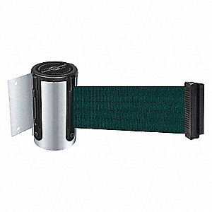 BELT BARRIER, CHROME,BELT GREEN