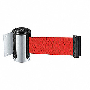 BELT BARRIER, CHROME,BELT COLOR RED