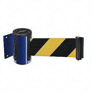 BELT BARRIER, BLUE W/YEL/BLK BELT