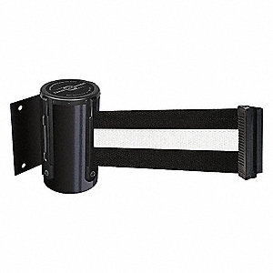 RETRACT BELT BARRIER,BLK WHT STRIPE