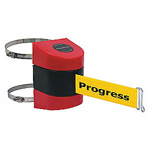 BELT BARRIER RED W/ YEL BELT