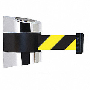 BELT BARRIER CHROME W/YEL/BLK BELT