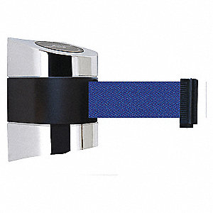BELT BARRIER CHROME WITH BLUE BELT