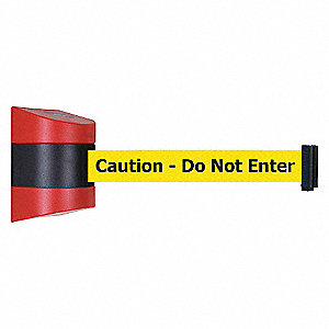 BELT BARRIER RED WITH YELLOW BELT