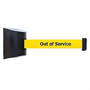 BELT BARRIER BLACK WITH YELLOW BELT