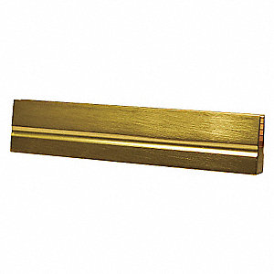 SIGN BRACKET,SATIN BRASS