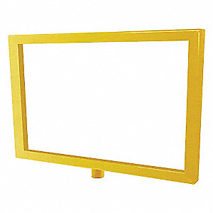 SIGN FRAME,YELLOW,11 X 114IN