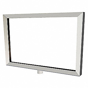 SIGN FRAME,SATIN CHROME,11 X 14IN