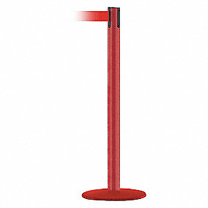 PORTABLE POST,RED BELT,13 FT