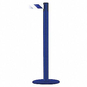 PORTABLE POST,BLUE/WHITE BELT,13 FT