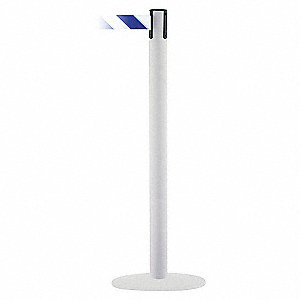 PORTABLE POST,BLUE/WHITE BELT,13 FT