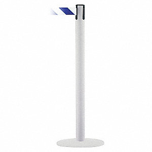 PORTABLE POST,BLU/WHT BELT,71/2 FT