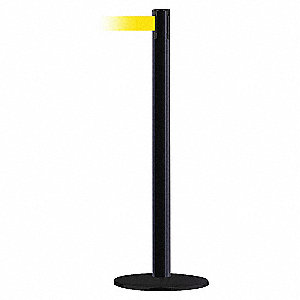 PORTABLE POST,YELLOW BELT,71/2 FT