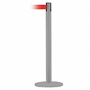 PORTABLE POST,RED BELT,71/2 FT