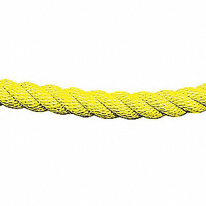 CLASSIC POST ROPE,TWISTED ROPE,YEL
