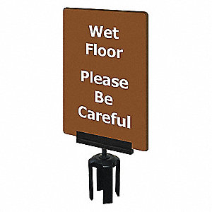 ACRYLIC SIGN,GRAY,WET FLOOR