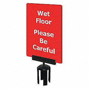 ACRYLIC SIGN,RED,WET FLOOR
