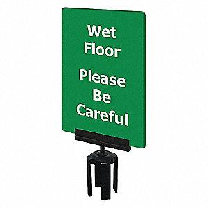 ACRYLIC SIGN,GREEN,WET FLOOR